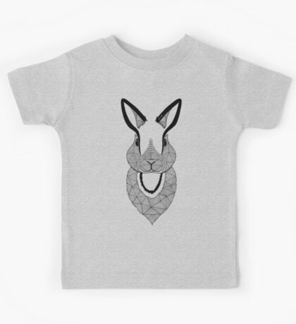 Rabbit black and white Kids Tee