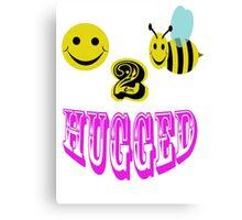 happy 2 bee hugged Canvas Print