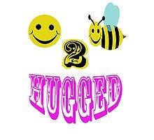 happy 2 bee hugged Photographic Print