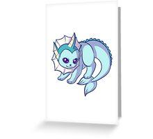 Chibi Vaporeon Greeting Card