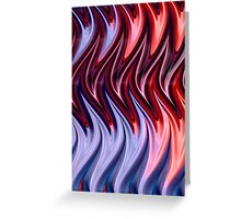 Abstract Flames Greeting Card