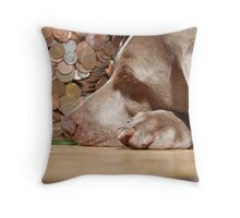 A nose for the money Throw Pillow