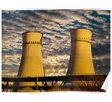 Tinsley Viaduct Cooling Towers Poster