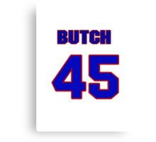 National baseball player Butch Metzger jersey 45 Canvas Print