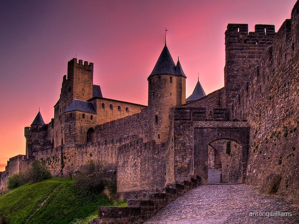 The Aude Gate - Cité de Carcassonne (Sunrise) by antonywilliams