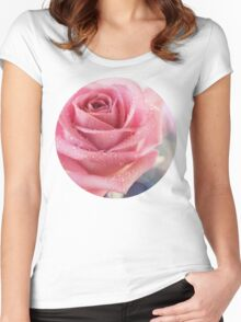 Lost for words ... Women's Fitted Scoop T-Shirt