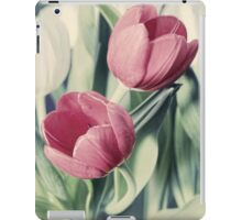 Twin Tulips in Pastel Pink iPad Case/Skin
