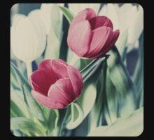 Twin Tulips in Pastel Pink Baby Tee