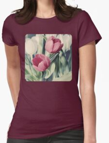Twin Tulips in Pastel Pink T-Shirt