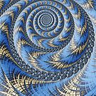 Spiral in Blue by John Edwards