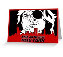 Escape From New York. Greeting Card
