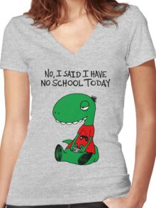 Gaming RÖH (I said I have no school today) Women's Fitted V-Neck T-Shirt