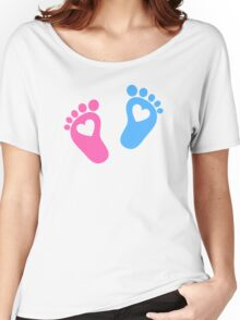 Baby feet with hearts Women's Relaxed Fit T-Shirt