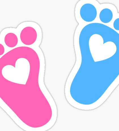Baby feet with hearts Sticker