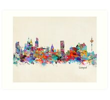 liverpool skyline Art Print
