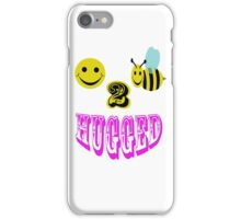 happy 2 bee hugged iPhone Case/Skin