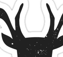 Deer Head Silhouette Design Sticker