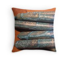 Hanukah candles and clay Throw Pillow