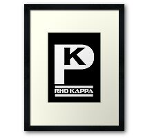 Rho Kappa Shirt Framed Print