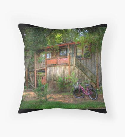Clear Lake Shores, Abandoned Throw Pillow