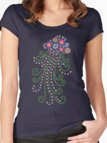 Jellyfish, Flower Of The Sea Women's Fitted Scoop T-Shirt