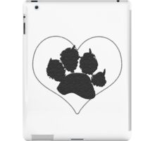 Paw Print In Heart 1 iPad Case/Skin