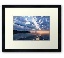 Blue Morning Zen - Toronto Skyline Impressions Framed Print
