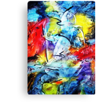 Dance with Colors Canvas Print