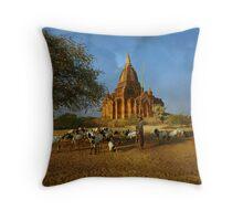 Memories of Bagan Throw Pillow
