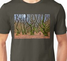 Ghost running in the haunted forest Unisex T-Shirt