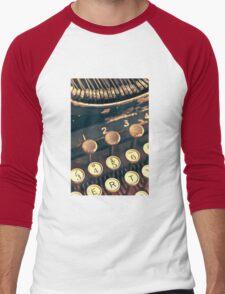 Vintage Typewriter Men's Baseball ¾ T-Shirt