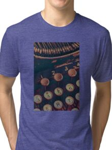 Vintage Typewriter Tri-blend T-Shirt