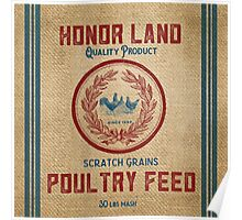 Vintage Burlap Like Feed Sack Poster