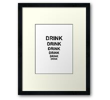 Father Ted Inspired 'Drink' Artwork Framed Print