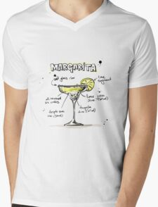 Cocktail - Margarita Recipe Mens V-Neck T-Shirt