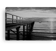 Monochrome Dawn Canvas Print