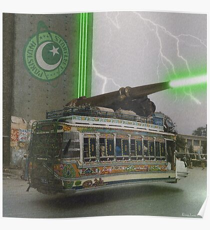 Our Top Secret Bedford Bus Mounted Directed Energy Torpedo Cannon Poster