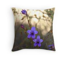 Pink enamel orchids Throw Pillow