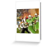 In 2038 The Pakistani Markhors Enter the NFL With Greatness Greeting Card