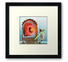 Eye to Eye with the dOvemistress. Framed Print