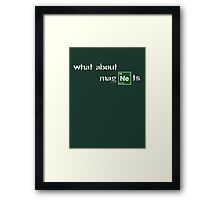 What about magnets? Framed Print