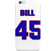 National baseball player Bill White jersey 45 iPhone Case/Skin