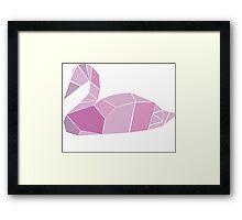 The Pink Swan Framed Print