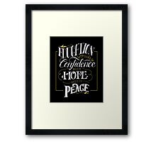 Education Breeds Peace - Confucius Quote Framed Print