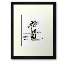 Cocktail - Mint Julep Recipe Framed Print