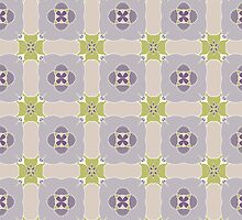 Purple Floral Geometric Pattern by elchivers