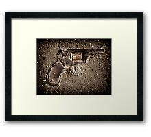 The gun Framed Print