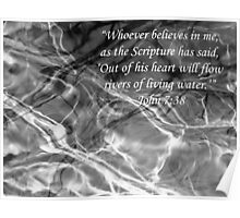 Water Branches Bible Reflections John 7 verse 3 Poster