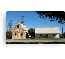 St Peter's Catholic Church and Presbytery, Greenough, Western Australia Canvas Print