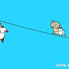 Yesthisismyday cartoon Little Baby and Kiki the red dog hero playing  by Beo Lo